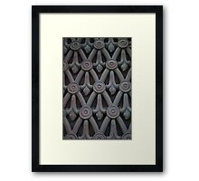 Bronze Screen Framed Print