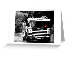 BW Fire Engine Greeting Card