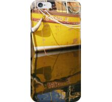 Yellow Boat Reflection iPhone Case/Skin