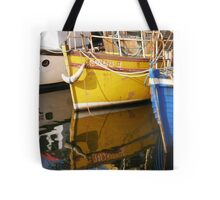 Yellow Boat Reflection Tote Bag