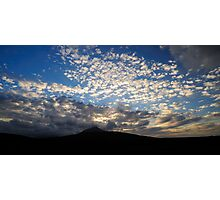 Clouds over Mount Slievemore Photographic Print