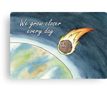 Asteroid valentine Canvas Print