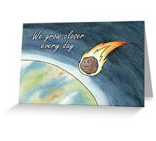 Asteroid valentine Greeting Card
