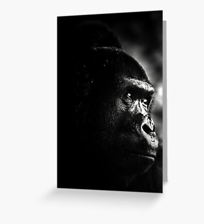 My portrait session with a primate Greeting Card