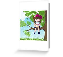 In A Tree Greeting Card