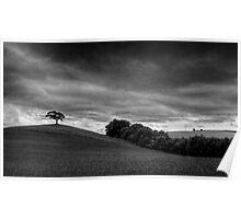 Solitude - A Black and White Landscape Poster