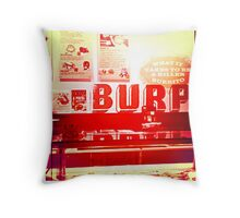 Burp Throw Pillow