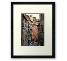 The Via Galeazzo Alessi, Perugia, Italy Framed Print