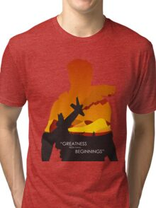 Greatness from small beginnings Tri-blend T-Shirt