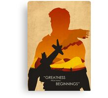 Greatness from small beginnings Canvas Print
