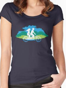 Tandem Bike Trip Women's Fitted Scoop T-Shirt