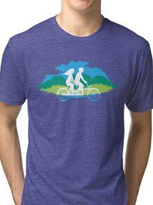 Tandem Bike Trip Tri-blend T-Shirt