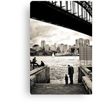 At The Harbours Edge Canvas Print