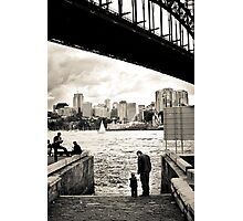 At The Harbours Edge Photographic Print