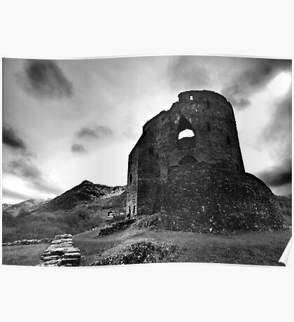 Dolbadarn Castle at Winter Poster