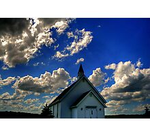 Church on the Prairies Photographic Print