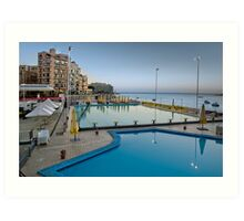 Cool-Pool Balluta Malta Art Print