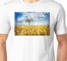Single tree in a wheat field Unisex T-Shirt