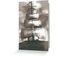 Sailing in the storm Greeting Card