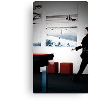 Airport Rush Canvas Print
