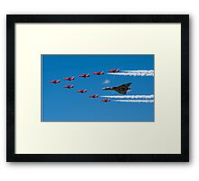 Avro Vulcan and Red Arrows Framed Print