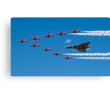 Avro Vulcan and Red Arrows Canvas Print