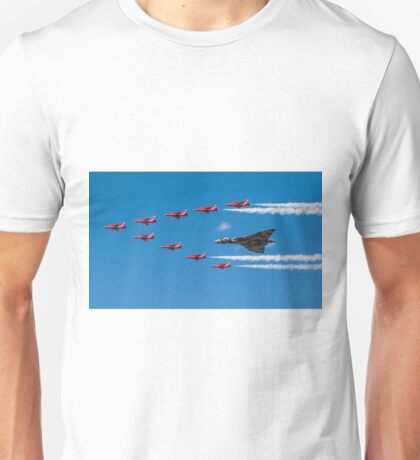 Avro Vulcan and Red Arrows Unisex T-Shirt