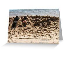 Sandy Sunbathers Greeting Card