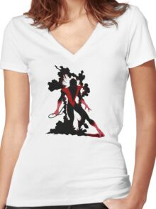 Nightcrawler X-Men III Women's Fitted V-Neck T-Shirt