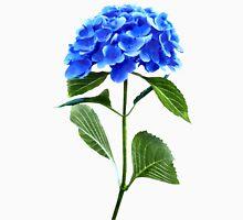 Vivid Blue Hydrangea Womens Fitted T-Shirt