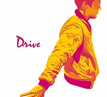 Ryan Gosling Drive The Driver Graphic by Pete (Cat) Andrews