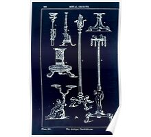 A Handbook Of Ornament With Three Hundred Plates Franz Sales Meyer 1896 0378 Metal Objects Antique Candelabrum Inverted Poster