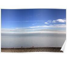 View From Penarth Beach Poster