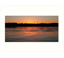 The end of a day at Canon Lake. Art Print