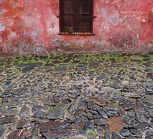 Old window in Colonia del Sacramento, Uruguay by Atanas Bozhikov
