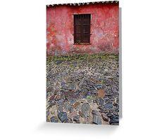 Old window in Colonia del Sacramento, Uruguay Greeting Card