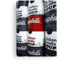 Soup - Andy Warhol Tribute Canvas Print