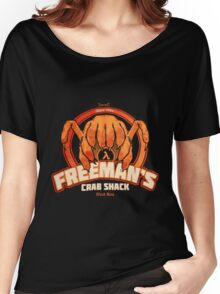 Freeman's Crab Shack Design Women's Relaxed Fit T-Shirt