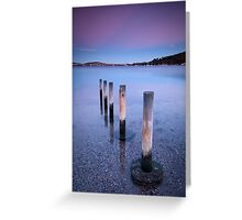 Winter Dusk - Cornelian Bay, Hobart, Tasmania Greeting Card