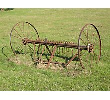 Old hay rake Photographic Print
