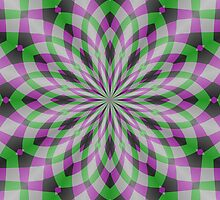 Rosette in Purple, Green and Black by Lena127