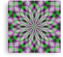 Rosette in Purple, Green and Black Canvas Print