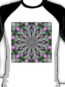 Rosette in Purple, Green and Black T-Shirt