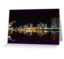 Buenos Aires by night, Argentina Greeting Card