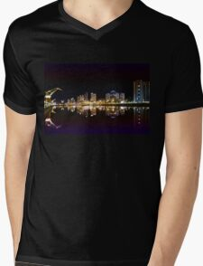 Buenos Aires by night, Argentina Mens V-Neck T-Shirt