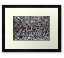 Silver cellular background Framed Print