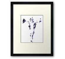 Man on Fire Framed Print