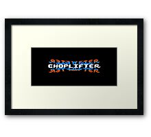 Choplifter - 80's video games Framed Print