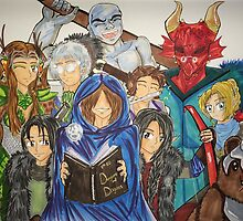 The Dungeon Master & Vox Machina by MeghanLeVaughn