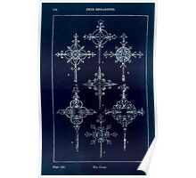 A Handbook Of Ornament With Three Hundred Plates Franz Sales Meyer 1896 0190 Free Ornaments Cross Inverted Poster